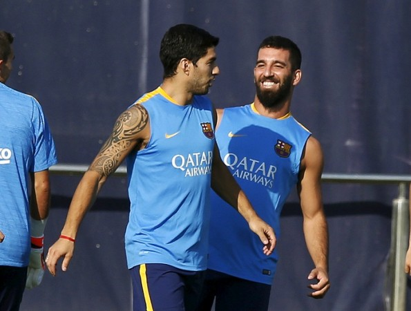 Luis Suarez Arda Turan Barcelona