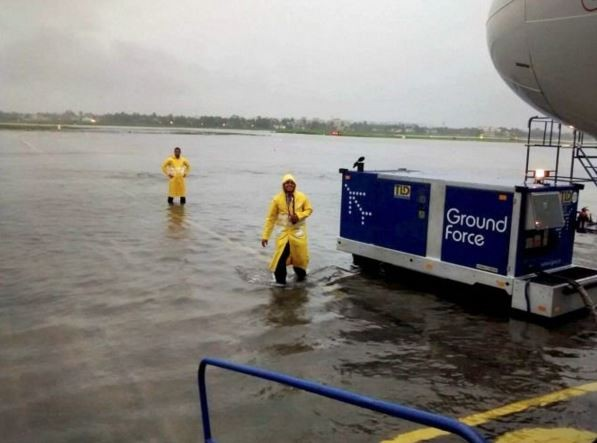 Floating ground force in Chennai Aiport