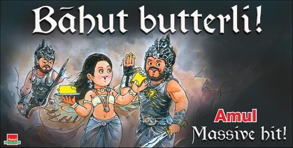 Baahubali the beginning,#BaahubaliStorm,Baahubali,Amul Baahubali,Amul ads,SS Rajamouli,Baahubali posters,bahubali