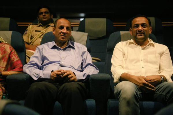 Governor Narasimhan watched Baahubali Movie,Governor Narasimhan,Narasimhan watched Baahubali Movie,E. S. L. Narasimhan,Baahubali,Baahubali special screening,Governor watches Baahubali,Union Ministers watched Baahubali