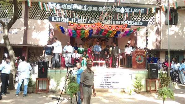 Vishal,actor Vishal,Vishal celebrates 69th Independence Day,69th Independence Day,69th Independence Day celebration,Independence Day celebration,Independence Day 2015,General Mithra Das
