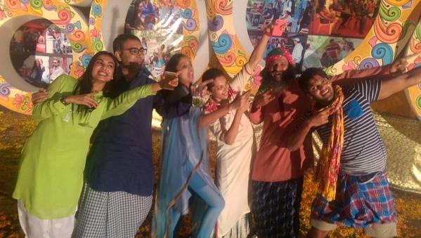 Arya,Anushka Shetty,Lungi Party,Size Zero,Inji Iduppazhagi,Arya and Anushka Shetty
