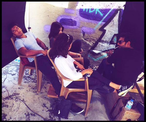 On-set Photos of 'Dil Dhadakne Do',Dil Dhadakne Do,Dil Dhadakne Do photos,Ranveer Singh,priyanka chopra,Zoya Akhtar,anushka sharma