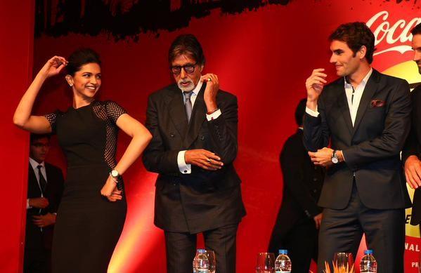 Deepika Padukone, Amitabh Bachchan and Roger Federer