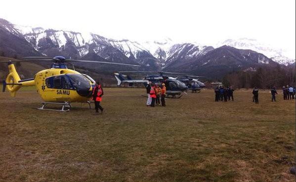 Emergency units at Seyne-les-Alpes