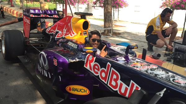 Naga Chaitanya in F1 Car