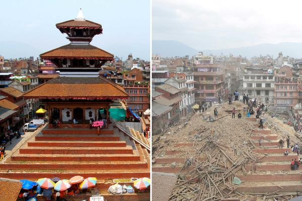 Before and After: Nepal Earthquake