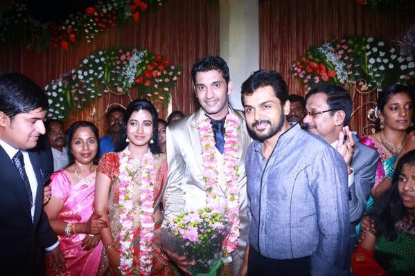 Karthi at Arulnidhi's Wedding Reception