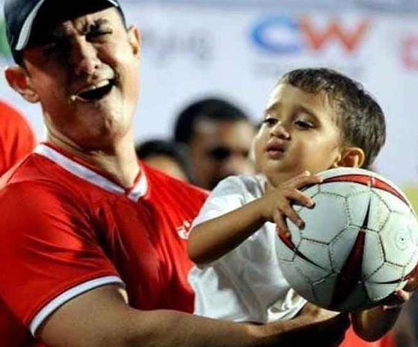Aamir Khan with son Azad