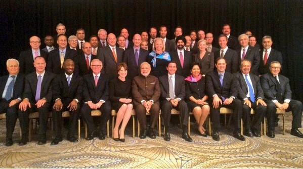Modi with CEOs