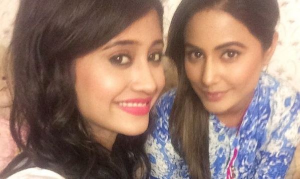 "Salman Khan to make an appearance on ""Yeh Rishta Kya Kehlata Hai""? Pictured: ""Yeh Rishta Kya Kehlata Hai"" actresses Shivangi Joshi and Hina Khan"
