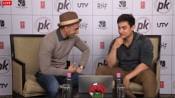 Ranveer Singh and Aamir Khan