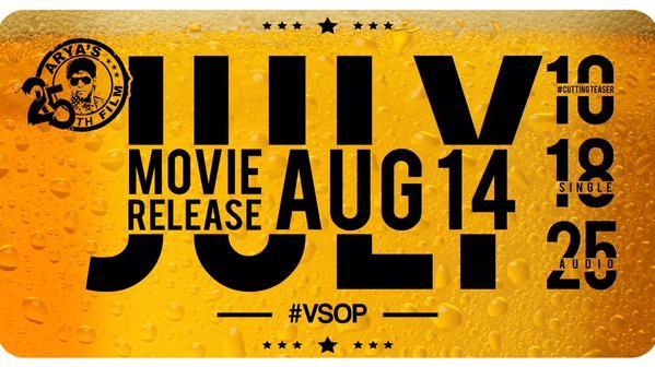 VSOP is Arya's 25th film