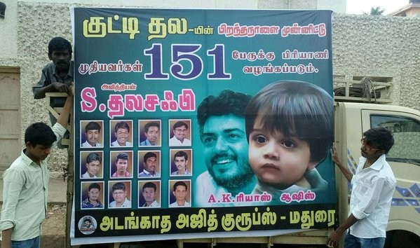 Ajith fans preparing for Kutty Thala Aadvik's first birthday