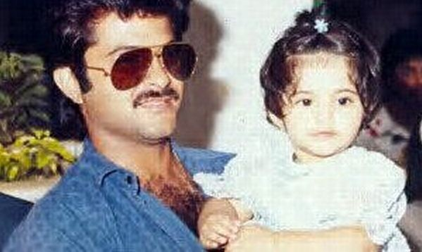 Sonam Kapoor's childhood picture with father Anil Kapoor.