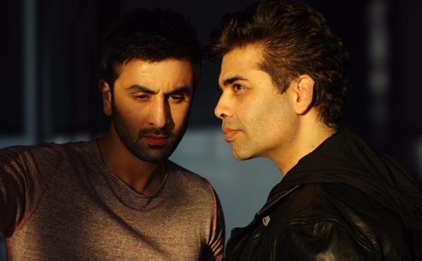Ranbir Kapoor and Karan Johar on sets of 'Ae Dil Hai Mushkil' in London