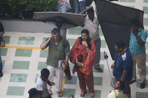Ajith with Bindu Madhavi