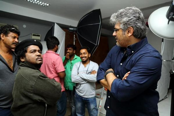 A Behind the Scene Photo of Ajith