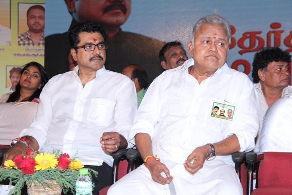 Sarath Kumar with Radha Ravi