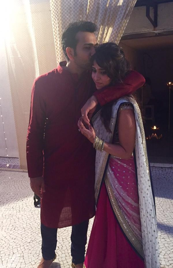 Rohit Sharma And Ritika Sajdeh Engagement Party Photos