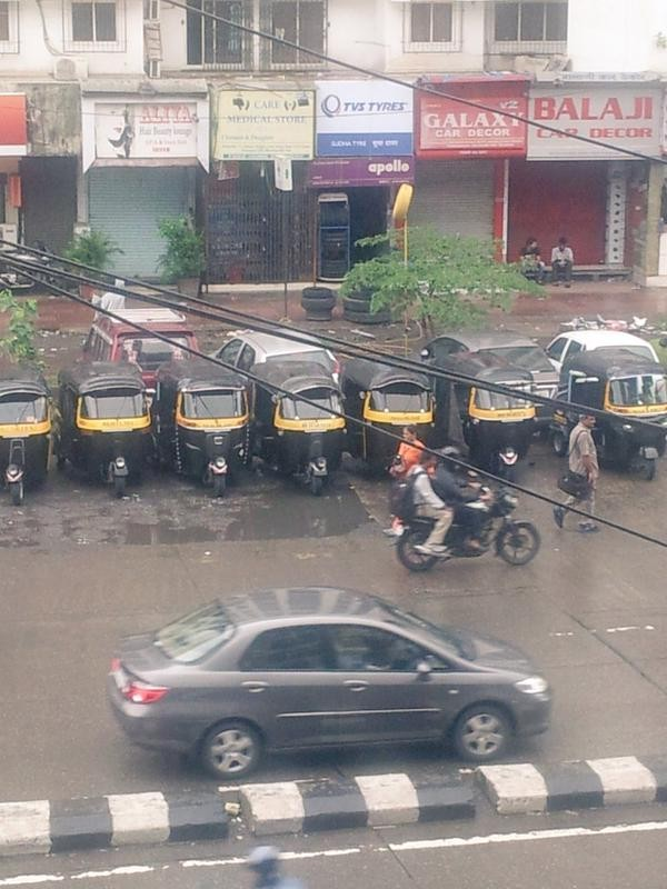 auto and taxi strike in mumbai against uber ola meru cabs photos. Black Bedroom Furniture Sets. Home Design Ideas