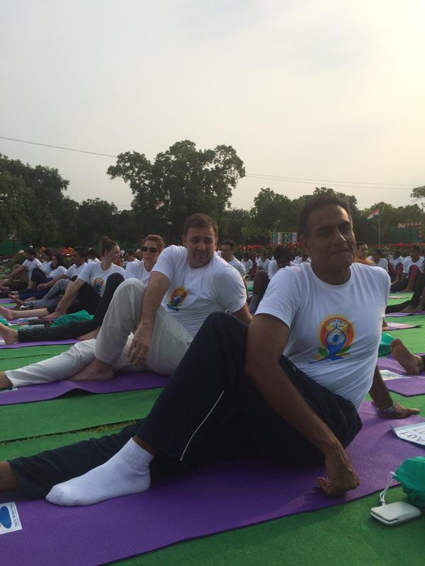 International Yoga Day,International Yoga Day celebration photos,International Yoga Day pics,International Yoga Day Rajpath Delhi,Delhi International Yoga Day celebration pictures,40000 people at Rajpath Delhi