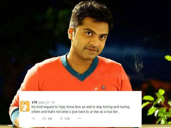 Simbu,Simbu requests Vijay and Ajith fans to stop Trolls,Vijay and Ajith fans,vijay fans,ajith fans