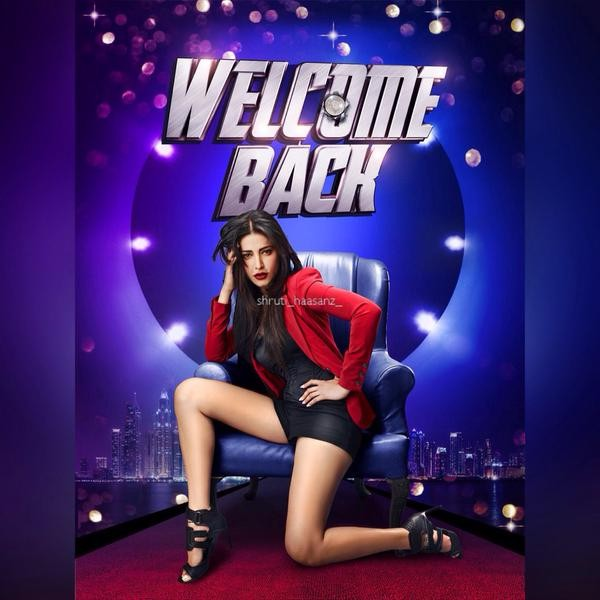 Shruti Haasan,Shruti Haasan's First Look from Welcome Back movie,Welcome Back Movie,actress Shruti Haasan,Shruti Haasan pics,Shruti Haasan images,Shruti Haasan photos,Shruti Haasan stills,Shruti Haasan pictures