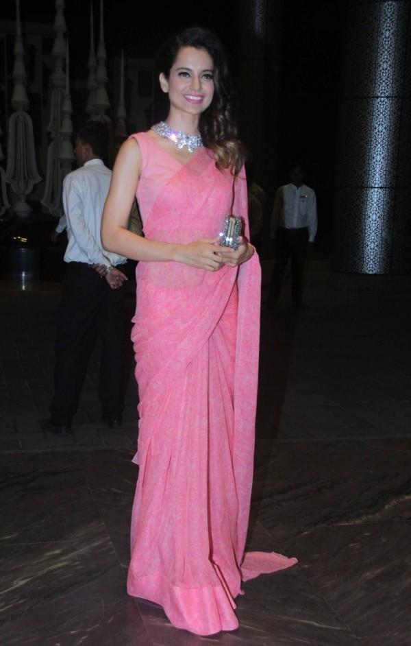Kangana Ranaut At Shahid Kapoor Wedding Reception Photos