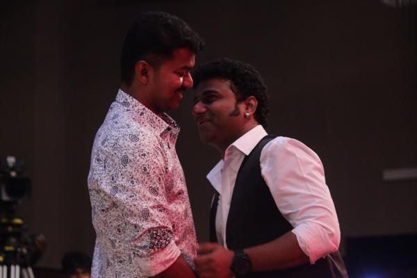 Devi Sri Prasad at Vijay's Puli Audio Launch,Devi Sri Prasad Puli Audio Launch,Vijay's Puli Audio Launch,Puli Audio Launch,Puli Music Launch,Devi Sri Prasad,Devi Sri Prasad latest pics,Devi Sri Prasad latest images,Devi Sri Prasad latest photos