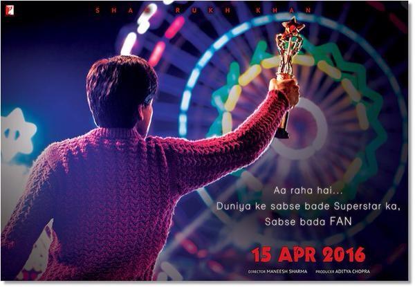Shahrukh Khan's Fan Teaser Poster,Fan Teaser Poster,Shahrukh Khan Fan movie,Fan movie Poster,shah rukh khan,Shahrukh Khan