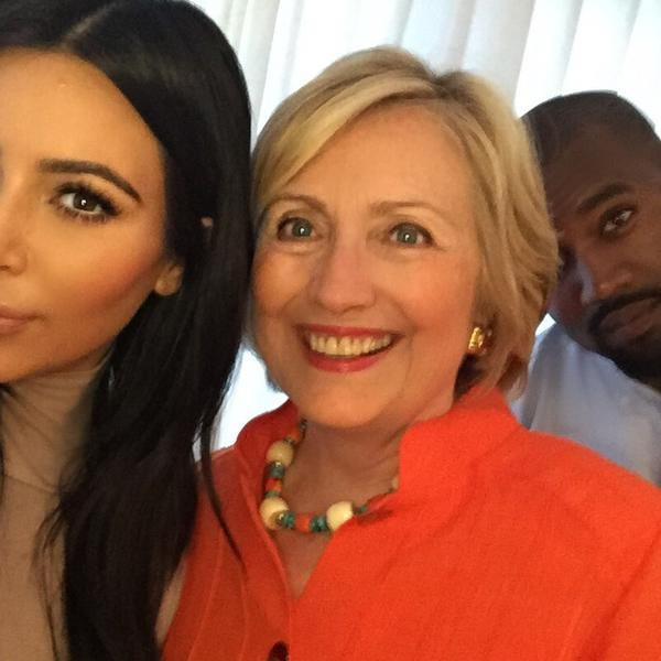 Kim Kardashian,Hillary Clinton,Kanye West,Kim Kardashian and Hillary Clinton,Kim Kardashian and Hillary Clinton selfie,Kim Kardashian and Hillary Clinton selfie pics,Kim Kardashian and Hillary Clinton selfie pictures