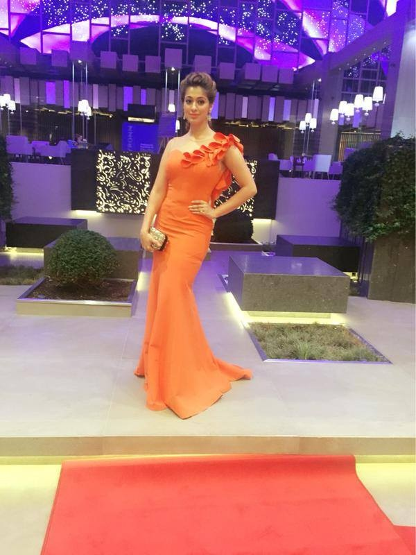 Siima awards 2015,raai laxmi,rai lakshmi,lakshmi rai in dubai,raai laxmi siima dress,raai laxmi siima orange gown