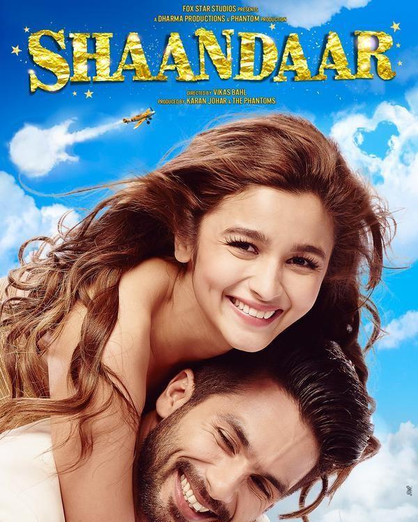 Shaandar First Look Poster,Shaandar First Look,Alia Bhatt,Shahid Kapoor,Alia Bhatt and Shahid Kapoor's Shaandar First Look Poster,Alia Bhatt and Shahid Kapoor,bollywood movie Shaandar,Shaandar movie poster,Shaandar poster