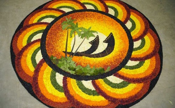Happy Onam Pookalam Designs Images 2016
