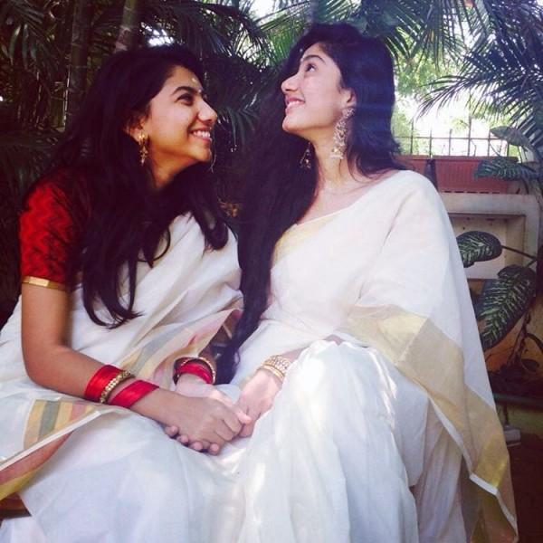 sai pallavi aka premam malar s first onam celebrations   photos