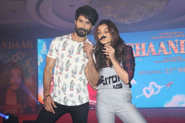 Shaandaar Audio Launch,Shaandaar Audio,Shaandaar,bollywood movie Shaandaar,Shaandaar Song Launch,Shahid Kapoor and Alia Bhatt,Shahid Kapoor,Alia Bhatt,Shaandaar Song Launch pics,Shaandaar Song Launch images,Shaandaar Song Launch photos,Shaandaar Song Laun