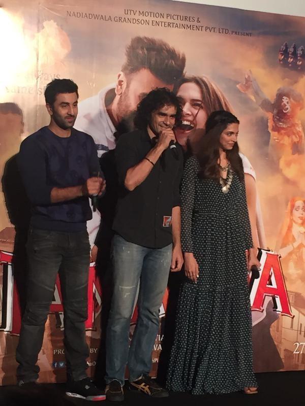 Tamasha Trailer Launch,Tamasha Trailer,Tamasha,bollywood movie Tamasha,Ranbir Kapoor,Deepika Padukone,Ranbir Kapoor and Deepika Padukone,Tamasha audio launch,Tamasha audio