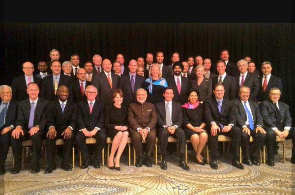 Narendra Modi,modi,Narendra Modi in New York,Modi in New York,modi with American CEOs,American CEOs,modi in USa
