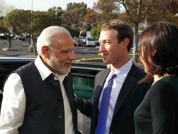 Narendra Modi,Prime Minister Narendra Modi at Facebook headquarters,Narendra Modi at Facebook headquarters,Facebook headquarters,Mark Zuckerberg