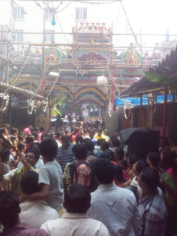 Darshan,actor Darshan,Darshan visits Annamma Temple,Challenging Star Darshan,Mr Airavata,Mr Airavata sucess meet
