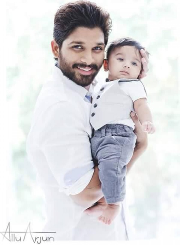 Here S Allu Arjun S Cute Family Pictures Photos Images