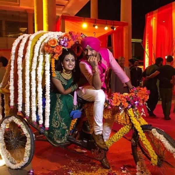 Harbhajan Singh,Geeta Basra,Harbhajan Singh and Geeta Basra's mehendi ceremony,Harbhajan Singh and Geeta Basra,Harbhajan Singh mehendi ceremony,Geeta Basra mehendi ceremony,Harbhajan Singh marriage,Harbhajan Singh wedding,Geeta Basra marriage,Geeta B