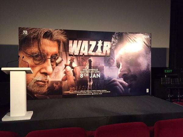 Wazir trailer launch,Wazir trailer,bollywood movie Wazir,Amitabh Bachchan,Aditi Rao Hydari,Farhan Akhtar,John Abraham,Neil Nitin Mukesh,Wazir trailer launch pics,Wazir trailer launch images,Wazir trailer launch photos,Wazir trailer launch stills,Wazir tra