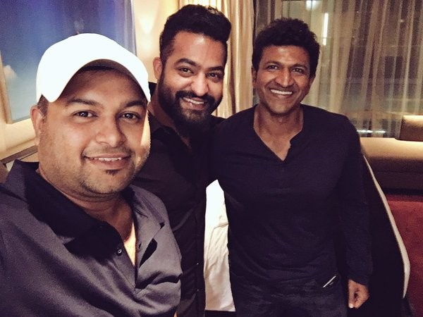 Jr NTR,Puneeth Rajkumar,Chakravyuha song recording,Chakravyuha,kannada movie chakravyuha