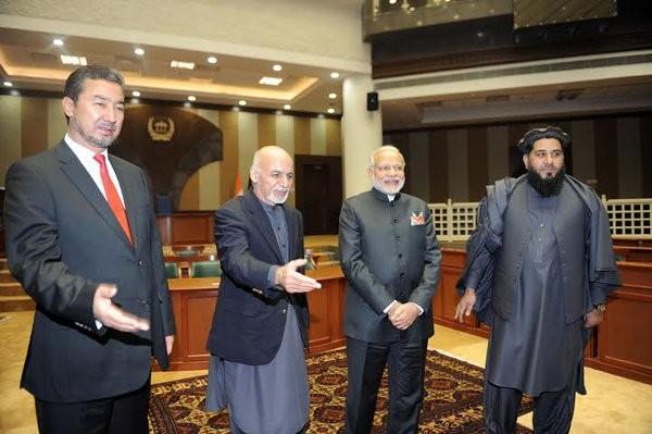 PM Narendra Modi,Ashraf Ghani,new parliament building in Kabul,Modi inaugurates Afghan parliament building,Afghan parliament building