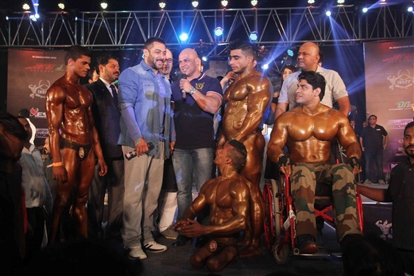 Salman Khan,actor Salman Khan,Salman Khan attends bodybuilding competition,Salman Khan at bodybuilding competition,BodyPower Expo,Body Building competition,Salman Khan At Specially Disabled Body Building