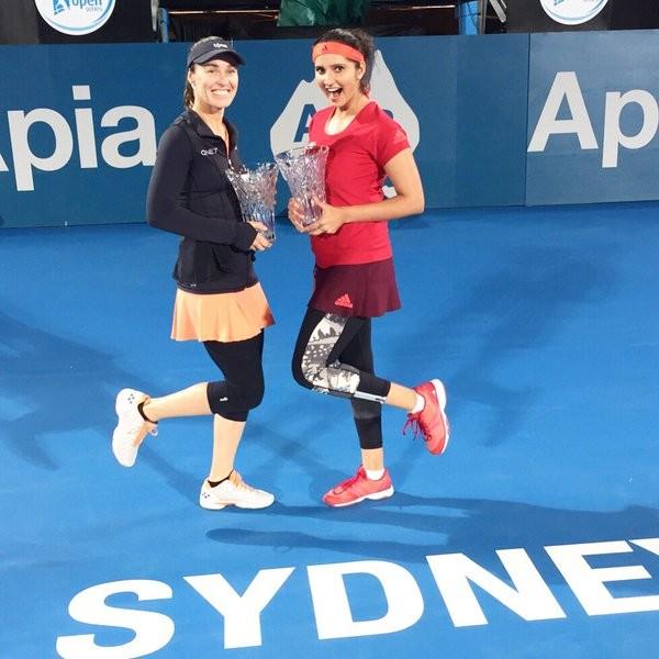 Sania Mirza,Martina Hingis,Sania Mirza and Martina Hingis,Sydney International women's doubles title,Indo-Swiss pair,Indo-Swiss,women's doubles title,women's doubles,Tennis