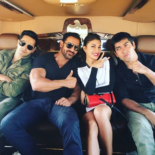 Dishoom,John Abraham,Varun Dhawan,Jacqueline Fernandez,Dishoom gets royal treat in Abu Dhabi,Sheikh Nahyan bin Mubarak Al Nahyan,bollywood movie Dishoom,Dishoom movie stills,Dishoom on the sets