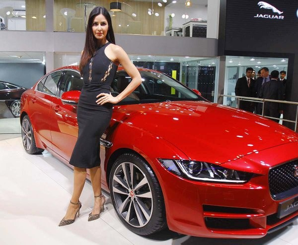 Auto Expo 2016 Launches Updates News Images: Katrina Kaif Launches The All-New Jaguar XE